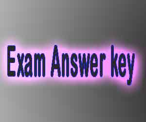 Answer key of exam