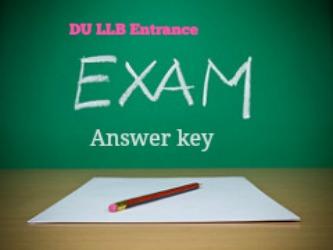 DU LLB Entrance Exam Answer key 2016