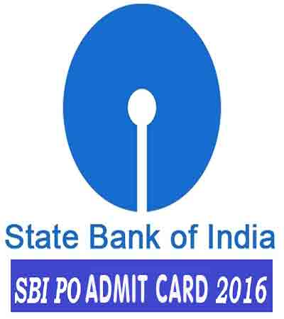 State bank of INDIA SBI Po Exam ADmit CArd