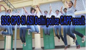 SSC Delhi Police ASI SI Exam Results