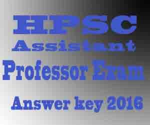 Assistant Professor Exam Answer key