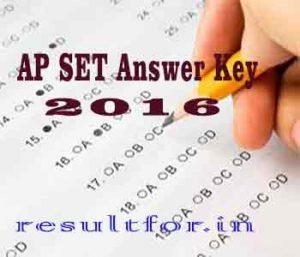 APSET 2016 Answer Key