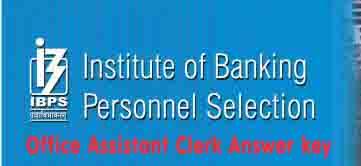 ibps clerk exam answer key 2016
