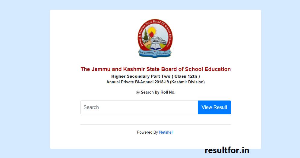 Jammu & Kashmir Division results 2019