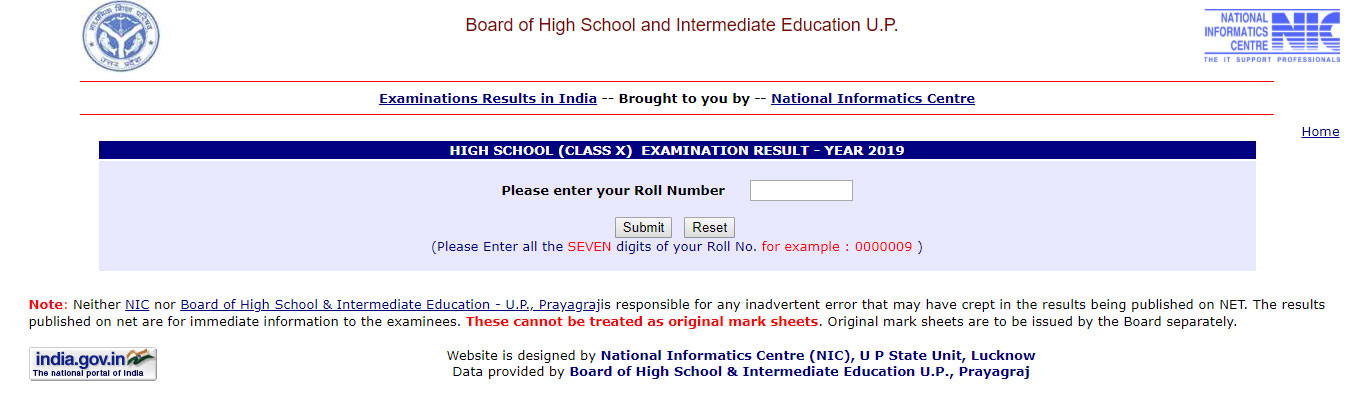 up board high shcool result, upmsp high school result, matric results, http://upresults.nic.in/PAHS19SS/HighGetRoll.htm