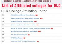 Bihar DLD coures colleges list