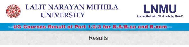 LNMU Exam UG Course Result 2017