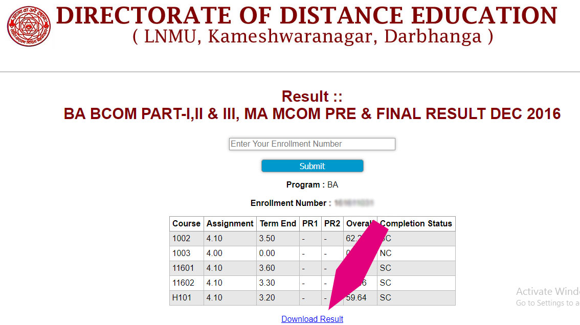 result part 1, dde lnmu exam , lnmu result 2017, dde result of lnmu, lnmu exam results , result of lnmu part one ,