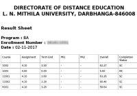 result lnmu dde, result dec exam , dec distance lnmu result, result lnmu 2017,