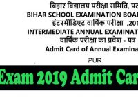 Bihar board 12th arts admit card 2019