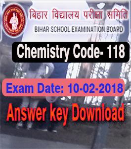 बिहार बोर्ड रसायन शास्त्र प्रश्न का उत्तर, Bihar Board Inter 2018 answer keys, Bihar Board Class 12th Answer key with the solution, BSEB 10/02/2018 Chemistry Answer key with Solution, Bihar Board Chemistry Solution Sheet and Answer key, BSEB 10+2 Chemistry Exam 10-02-2018 Answer Key, BSEB 2018 Objective Type Questions Answer, रसायनशास्त्र से जुड़ी किसी भी प्रकार का प्रश्न,