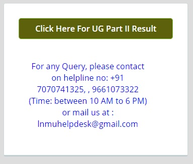 lnmu part 2 result declared check now