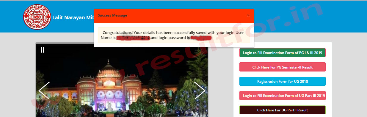 lnmu pg first sem registration 2019