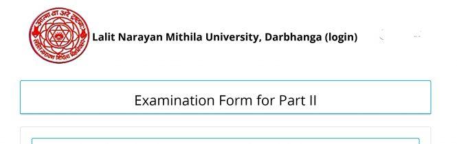 nmu ug part 2 Exam Form Apply 2019