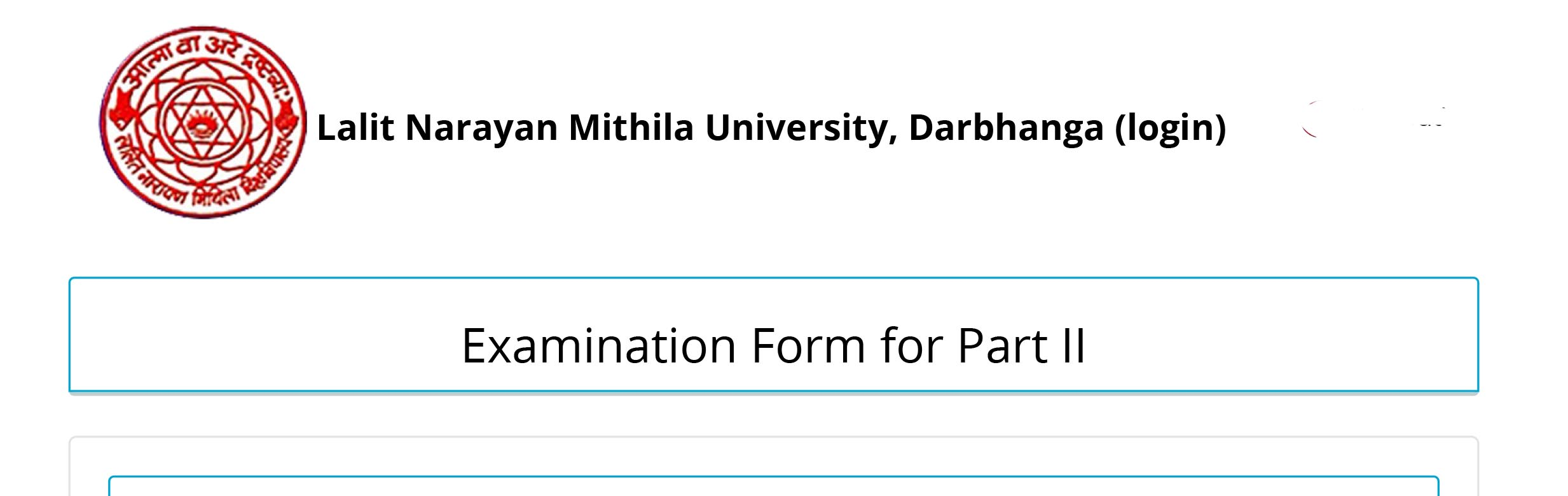 nmu ug part 2 Exam Form Apply 2019