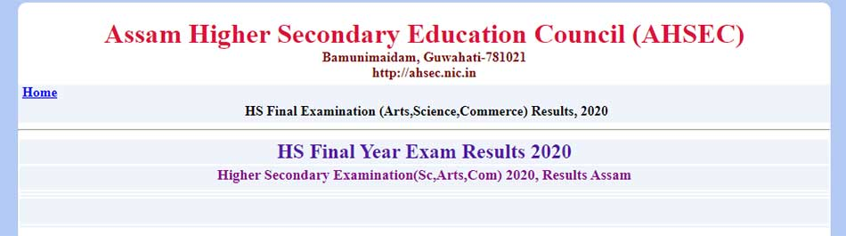 Assam Board 12th Result Published