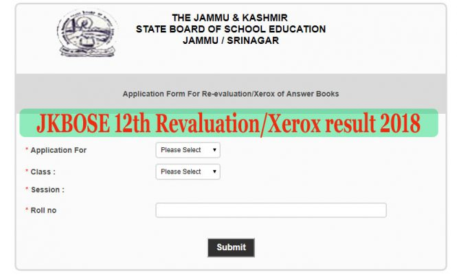 JKBOSE Revaluation Results 2018 12th Class Annual Result, JKBOSE Revaluation Form 2018 12th Class Retotaling apply, JKBOSE 12th Class Revaluation link is available now, JKBOSE 12th Revaluation result 2018-Check Here, JK 12th Re-Evaluation Result 2018 Download Xerox/ Scan Copy, jammu kashmir board 12th copy rechecking, JKBose 12th copy xerox, apply jkbose online revlation