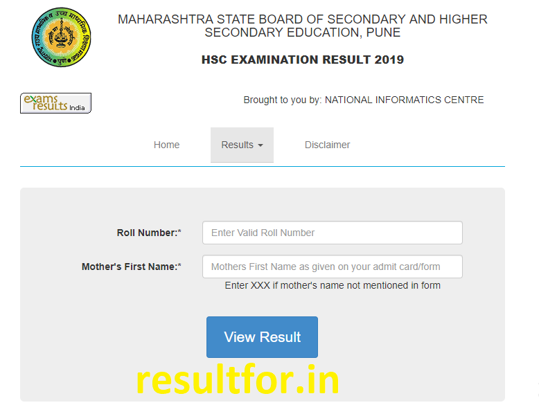maharashtra board hsc 12th results check