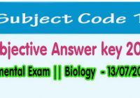 bihar board biology exam answer key 2018