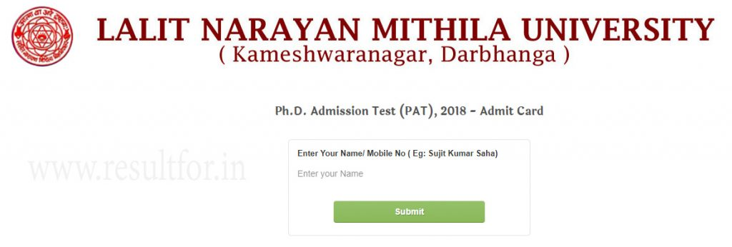 lnmu phd pat admit card 2018, http://www.sugoilabs.online/hall-tickets/pat_admitcard/admit_card.php