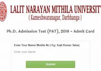 phd admission exam admit card