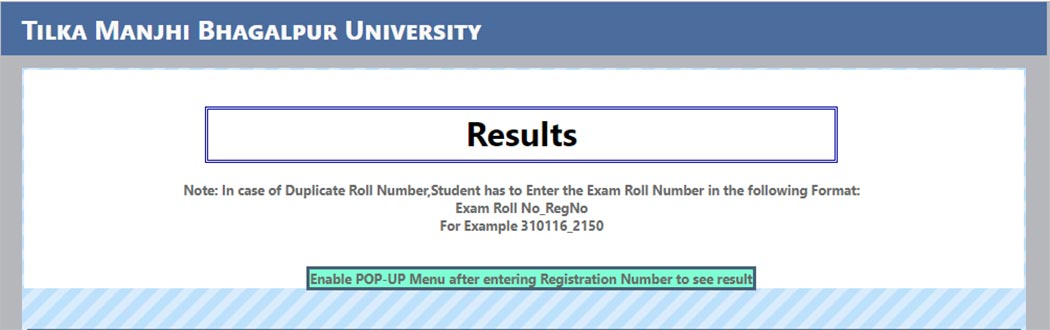 Tilka Manjhi University part 3 result