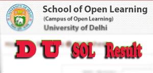 5fd1b142788b7 Delhi University releases all examination Result Online on the Official  website of Delhi University SOL Education. Students can visit DU SOL  Official ...