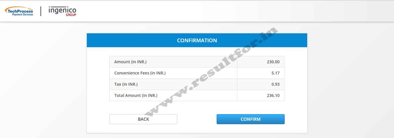lnmu payment conformation for ug part one
