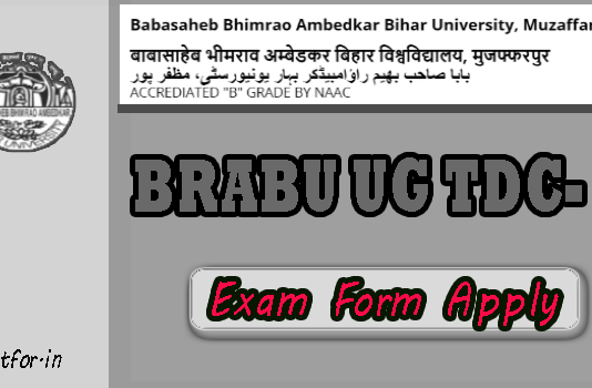 BRABU UG TDC Part 2 Exam Form Apply