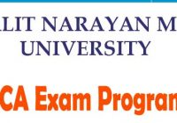LNMU BBA BCA Exam Program 2019