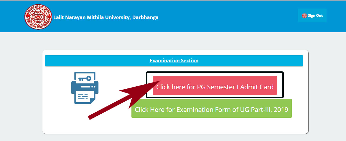 lnmu pg exam sem 1 admit card