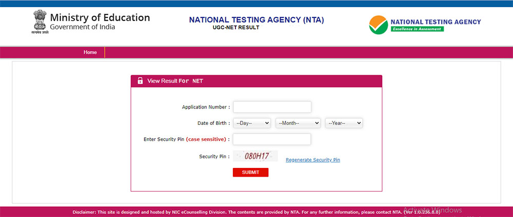 UGC NET Result 2020 Check Scorecard / Merit Rank @ ugcnet.nta.nic.in