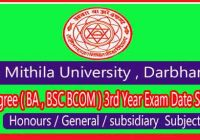 lnmu exam date part 3 session 2017-20