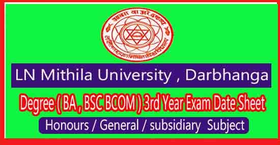 lnmu exam date part 3 session 2017-20