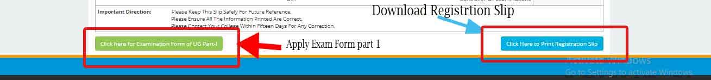 lnmu ug part 1 exan form apply and registration slip download link
