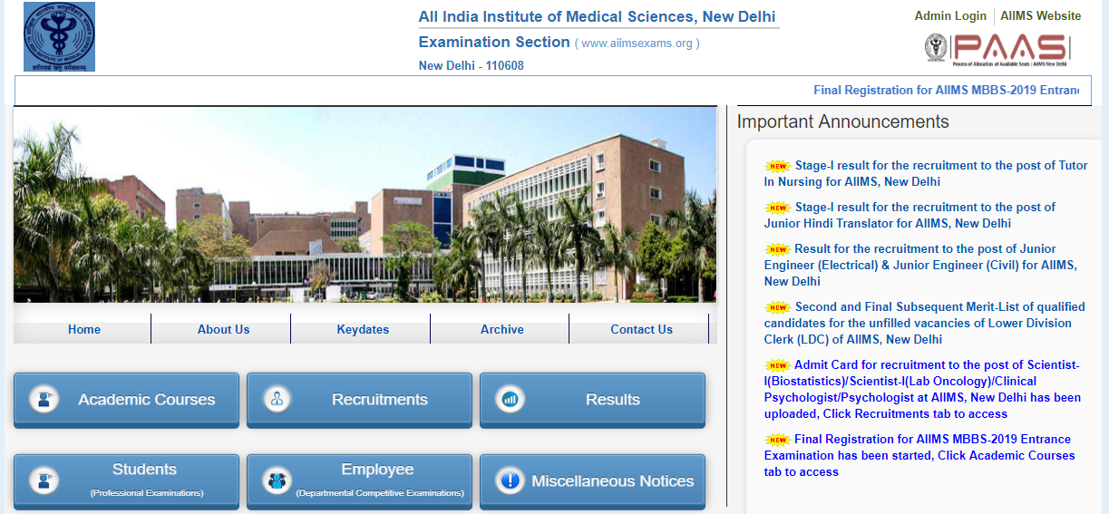 AIIMS-MBBS-Apply-2019