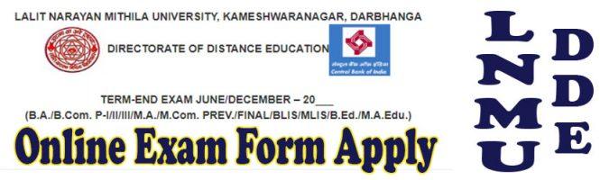 LNMU DDE Exam Form Apply