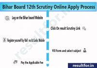 bihar board inter scrutiny form apply process