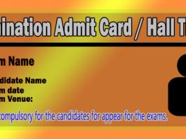 exam admit card