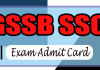 GSEB SSC Supplementary Hall Ticket 2019, GSEB SSC Supplementary exam admit card, exam admit card,