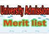 university admission merit list 2019
