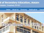 assam board 10th exam date sheet