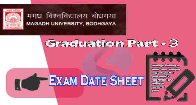 Magadh university Graduation part 3 exam date sheet