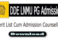 dde lnmu pg admission merit list download