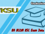 VKSU UG BA BSC BCOM Part 1 Exam Routine 2019, VKSU BA BSC BCOM Part 1 Exam Date sheet, VKSU UG Part 1 Exam Routine, VKSU Graduation Part 1 BA BSC BCOM Exam Timetable,