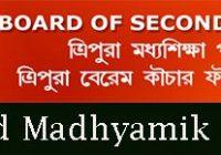 Tripura Board Madhyamik Exam Routine