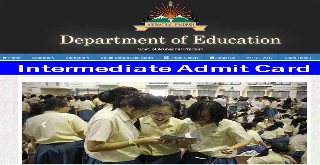 dseap 12th admit card arunachal pradesh board