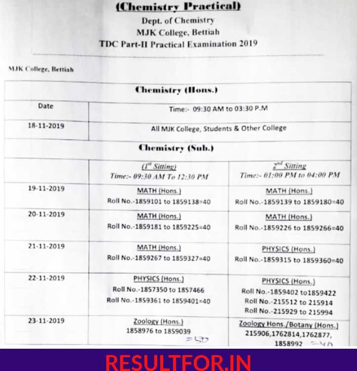 brabu tdc part 2 practical exam date sheet download
