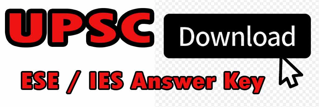 UPSC IES Exam Answer key