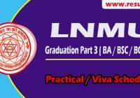 lnmu ug part 3 practical exam date center list